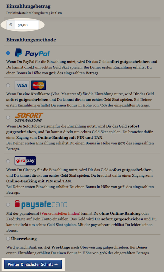 bareinzahlung paypal