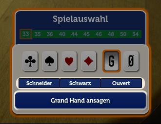 Spielauswahl
